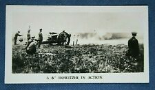 ROYAL FIELD ARTILLERY  6 Inch Howitzers     Original 1920's Photo Card