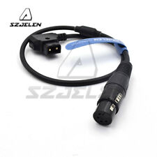 D-tap to XLR 4pin Female Power Cable for DSLR Camcorder/Roland R88 Monitor
