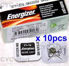 10 pedazo x Energizer 377 SR626SW Óxido de plata Pilas GRATIS POSTE Made in USA