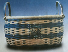 Basket Weaving Pattern Deep Blue Sea Basket by Debbie Hurd