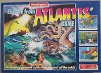 Escape From Atlantis Board Game Waddingtons Vintage 1986 Complete