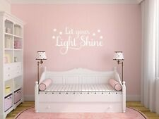 """Wall Quote """"Let Your Light Shine"""" Motivation Sticker Lyrics Decal Decor Transfer"""