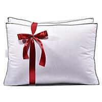 "Feather & Down Bed Pillows 100% Cotton Cover 2 Pack King Size 18"" x 34"""