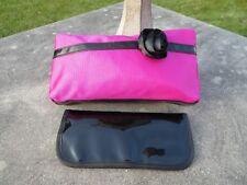 NEW - Lancome makeup bag + brush set - Fuchsia with black flower