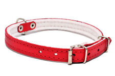 REAL LEATHER DOG PUPPY CAT KITTEN COLORFUL COLLARS small medium
