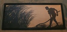 Vintage Original Silhouette Style Original Painting Signed Otto Schmidt Ca. 1921