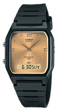 Casio AW48HE-9AV Men's Resin Strap Gold Dial Analog Digital Dual Time Watch