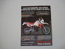 advertising Pubblicità 1987 MOTO KASASKI KLR 650 ENDURO