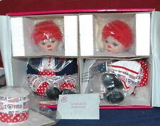 """Marie Osmond Huggs & Kissy Patriots Porcelain Dolls Red White & I Love Blue 10"""""""