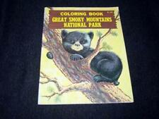 Vintage 1972 GREAT SMOKEY MOUNTAINS National Park Coloring Book