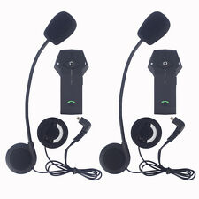 2x COLO BT Motorcycle Helmet Intercom System Bluetooth Interphone Headset NFC+FM