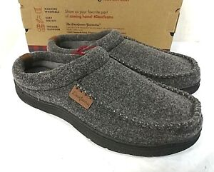 Dearfoams Men's Memory Foam Slippers Indoor/Outdoor - Pick Size - GREY
