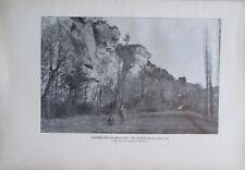 Landschaft aus dem Bezere Tal La Madeleine Alter Druck ca. 1906 Litho Frankreich