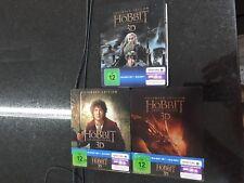Hobbit Teil 1 2 3 Extended 2D 3D Edition  Steelbook    Blu Ray Bluray 15 Disc