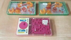 3x Pocketeer Game Bundle TREMOR +2 x STEEPLECHASE Palitoy Tomy 70s Handheld Rare
