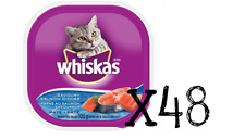 48X Trays Whiskas Cat Savory Salmon Pate Recloseable Foil 100gx48 FRESH