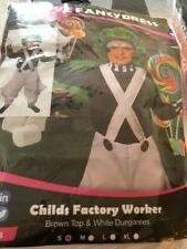 FACTORY WORKER COSTUME FANCY DRESS Umpa Lumpa Child small 5-7 years