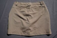 Under Armour Loose Stretch Golf Skirt, Short with Pockets. Beige, Women's 8. EUC