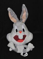 Peluche doudou bugs bunny LOONEY TUNES WARNER gris blanc 23/37 cm assis TTBE