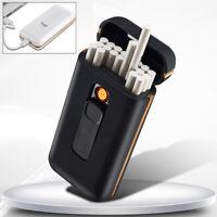 Briquet Allume-Cigarette Électrique Usb Recharge Étui Pour 20 Cigarettes Slim