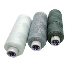 White Blue Blue Jeans Thread Strong Hand Machine Sewing 130m Spool Button Stitch