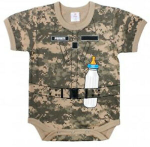 1pc Infant Bodysuit - Army Soldier - ACU DIGI | CAMO | BABY