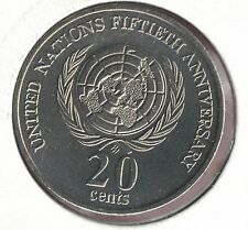 1995 Australia Uncirculated 20c Coin Fiftieth Anniversary of the United Nations