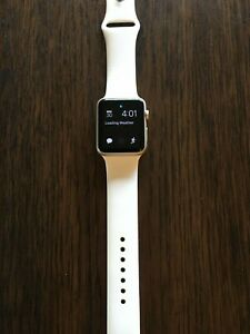 Apple Watch Series 1 42mm Gold Aluminum with 6 Extra Bands & Case