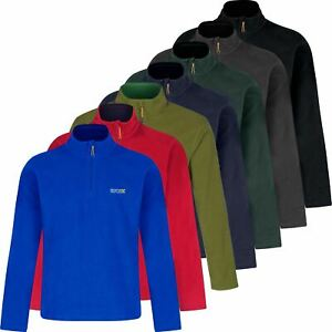 Men Regatta Thompson Lightweight Micro Half Zip Fleece Jacket Big Size Anti Pill