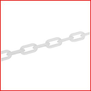Fixman 568185 White Plastic Barrier Chain 6mm X 5m For Creating Boundaries New