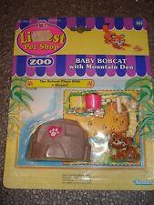 ULTRA RARE MOC VINTAGE G1 Littlest Pet Shop *Zoo Bobcat Variant DARK!*
