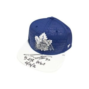 Auston Matthews 4G NHL Debut Autograph Toronto Maple Leafs Baseball Cap Fanatics