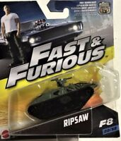 FAST & FURIOUS DIECAST CARS F8 FILM BOXED AND RARE TOYS 1:55 MATTEL FCF35 MINT