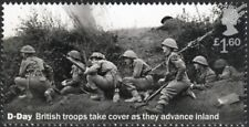 WWII D-Day British Soldiers of East Yorkshire Regiment / German Shell Stamp