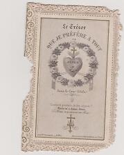 CANIVET ANCIEN HOLY CARD SANTINI DOUBLE-COEUR DE JESUS/TRESOR CRECHE/MARIE/JESUS