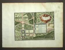 VILLE PLAN DE RICHELIEU EN POITOU TOURAINE gravure estampe originale TASSIN 1638