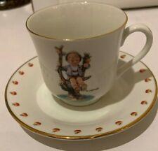 "M.J. Hummel Cup & Saucer ""Apple Tree Boy"" Danbury Mint"
