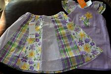 Gymboree Daffodil Garden lavender ruffle sleeve top & pieced skirt NWT 5