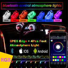 RGB 10 in 1 Car Interior Decor Ambient Light 8M Neon Strip Bluetooth APP Control