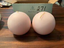 "Nib PartyLite 3"" Ball Candles Strawberry Parfait"