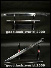 High Quality Manganese Steel Chinese Short Sword Iron Fitting Razor Sharp Blade