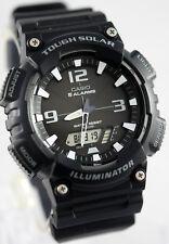 Casio Model SOLAR POWER World Time 5 Alarms 100m Watch AQ-S810W-1AV New