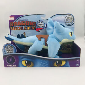 """Dreamworks DRAGONS RESCUE RIDERS 14"""" Winger Plush WING FLAP ACTION Netflix New"""