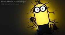 正版 Despicable Me壞蛋掌門人Minions Kevin LED 3D牆燈