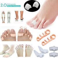 2Pcs Orthopedic Bunion Corrector 2.0 Toe Separators Straighteners Spacers Pain