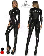 Tuta Catsuit Cavallo Aperto Aderente Clubwear Mistress Dominatrice Lucido Latex