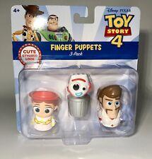 Disney Pixar Toy Story 4 Finger Puppets 3 Pack Jessie Forky Duke Caboom NIP