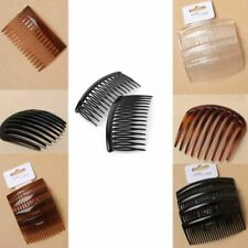Side Comb Hair Clip Wide Teeth Clear Clamp Tort Grip Style Bridal Classic Goody