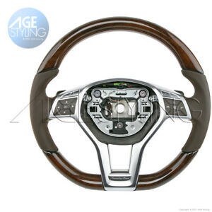 OEM Mercedes-Benz SL400 SL550 231 WALNUT Wood Mocha BROWN Leather Steering Wheel
