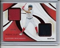2020 Panini Immaculate Xander Bogaerts Dual Relic Card #18/49 Boston Red Sox